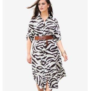 NWT Safari Dark Basil Long Dress